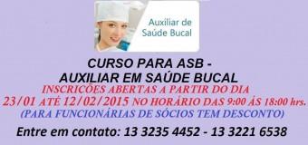 """Abertura das inscrições para o curso de """"Auxiliar em Saúde Bucal"""""""
